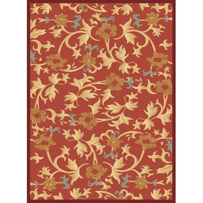 Jordan Red Area Rug Rug Size: 311 x 53