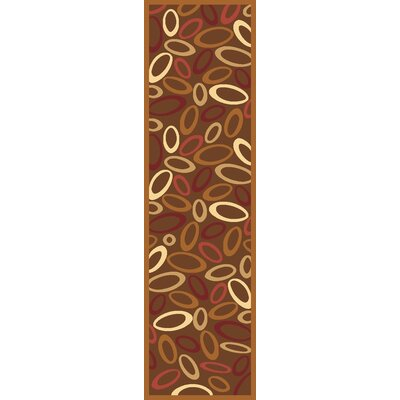 Jordan Brown Area Rug Rug Size: Runner 23 x 71