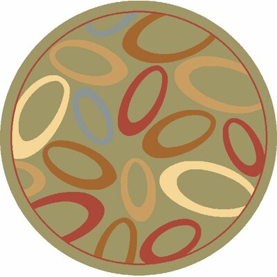 Jordan Light Green Area Rug Rug Size: Round 53