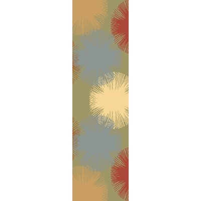 Jordan Light Green Area Rug Rug Size: Runner 23 x 71