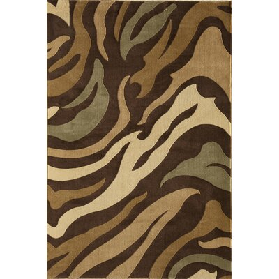 Jordan Brown Area Rug Rug Size: Rectangle 5'3