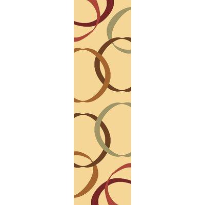 Jordan Cream Area Rug Rug Size: Runner 23 x 710