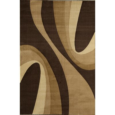 Jordan Brown Area Rug Rug Size: 5'3