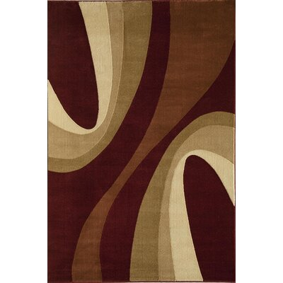 Jordan Red Area Rug Rug Size: Rectangle 53 x 710