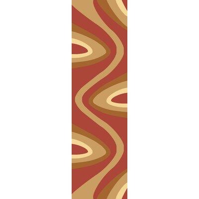 Jordan Red/Beige Area Rug Rug Size: Runner 23 x 710