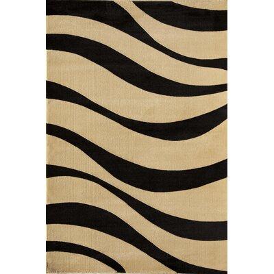 Jordan Beige/Black Area Rug Rug Size: 53 x 710