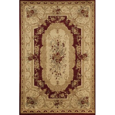 Berghoff Red/Ivory Area Rug Rug Size: 67 x 96