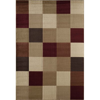 Allston Natural/Brown Area Rug Rug Size: 53 x 710