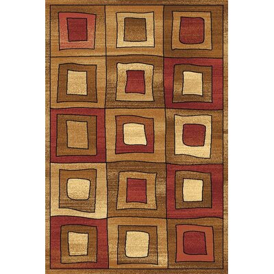 Allston Brown/Organe Area Rug Rug Size: Runner 23 x 710