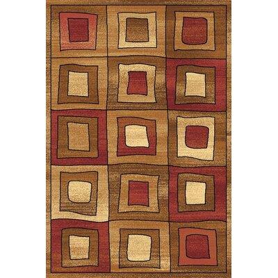 Allston Brown/Organe Area Rug Rug Size: 53 x 710