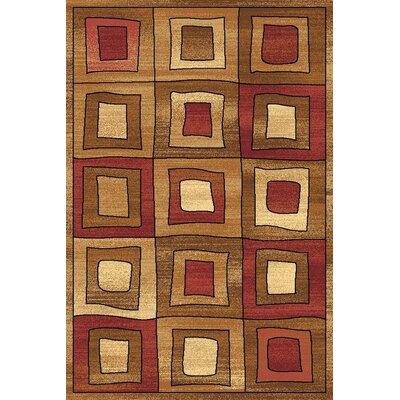 Allston Brown/Organe Area Rug Rug Size: 710 x 1010