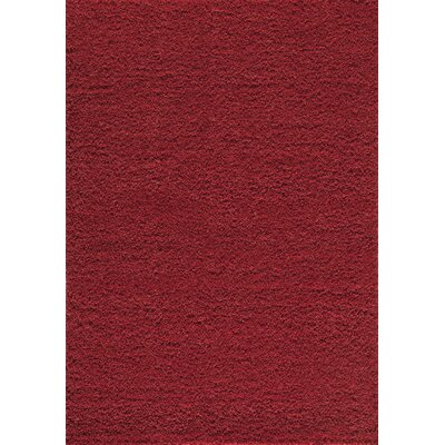 Cambridge Red Area Rug Rug Size: 53 x 76