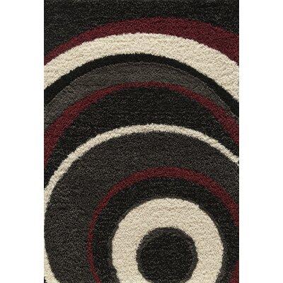 Cambridge Black Area Rug Rug Size: 53 x 76