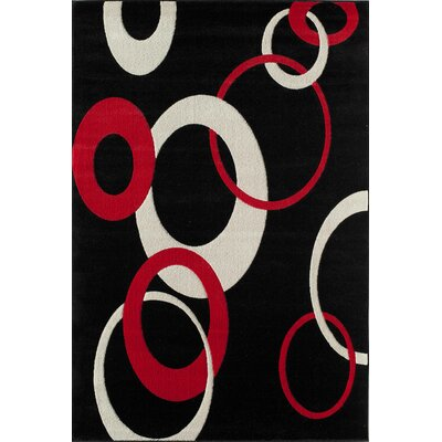 Allston Black/Ivory Area Rug Rug Size: 53 x 710