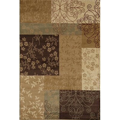 Allston Brown/Tan Area Rug Rug Size: Rectangle 53 x 710