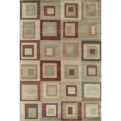 Allston Ivory/Grey Area Rug Rug Size: Rectangle 53 x 710