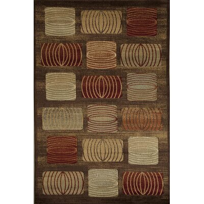 Allston Brown/Rust Area Rug Rug Size: 710 x 1010