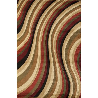 Allston Red/Brown Area Rug Rug Size: 710 x 1010