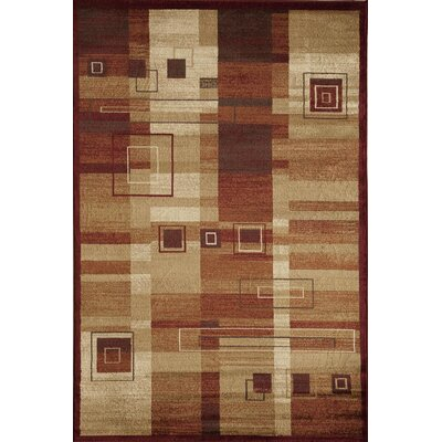 Allston Rust/Natural Area Rug Rug Size: Rectangle 53 x 710