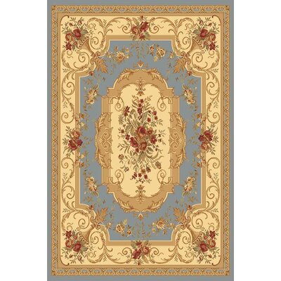 Berghoff Blue/Gold Area Rug Rug Size: 67 x 96
