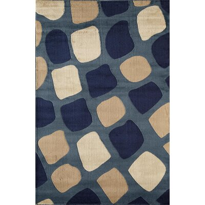 Allston Blue/Sand Area Rug Rug Size: Rectangle 53 x 710