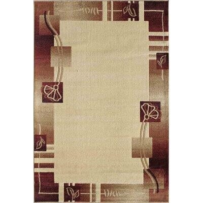 Allston Beige/Brown Area Rug Rug Size: 53 x 710