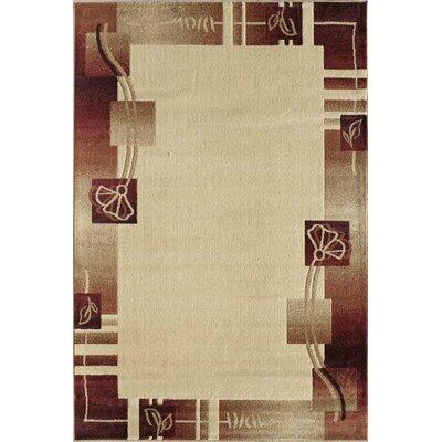 Allston Beige/Brown Area Rug Rug Size: Runner 23 x 71