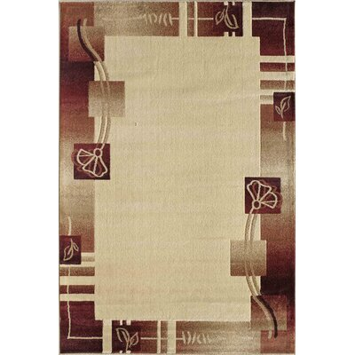 Allston Beige/Brown Area Rug Rug Size: Rectangle 710 x 1010