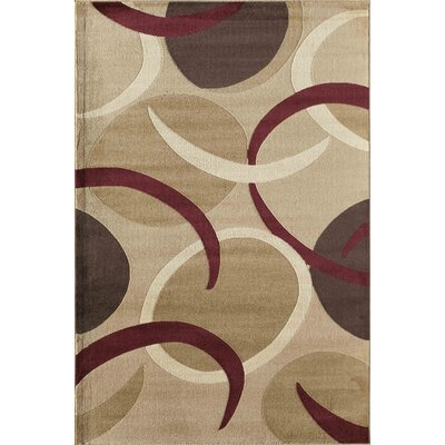 Allston Brown/Beige Area Rug Rug Size: Rectangle 710 x 1010