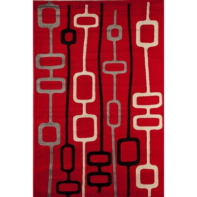 Allston Red Area Rug Rug Size: 710 x 1010