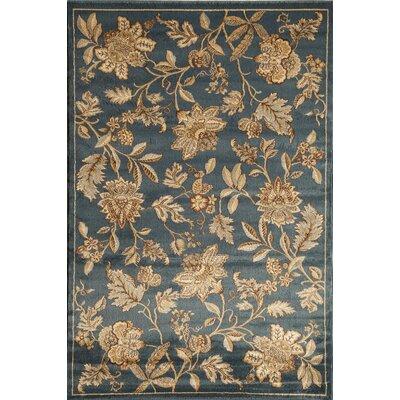 Allston Blue/Gold Area Rug Rug Size: 53 x 710