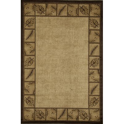 Allston Tan/Brown Area Rug Rug Size: Rectangle 53 x 710
