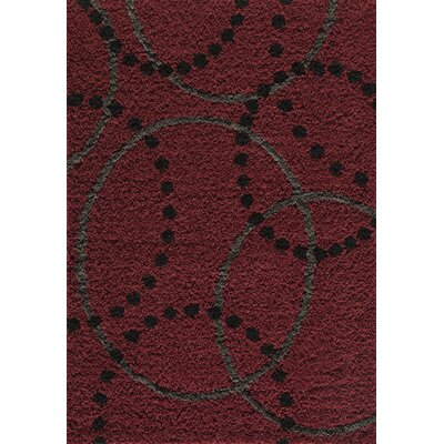 Cambridge Red Area Rug Rug Size: 710 x 1010