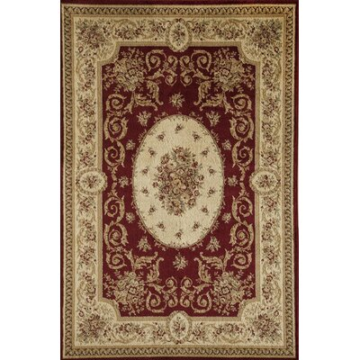 Berghoff Red Area Rug Rug Size: Rectangle 67 x 96