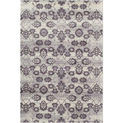 Grady Purple/Ivory Area Rug Rug Size: 2 x 3