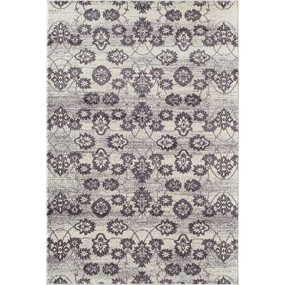 Grady Purple/Ivory Area Rug Rug Size: 53 x 710