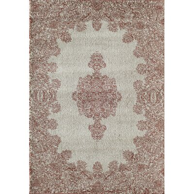 Grady Orange/Ivory Area Rug Rug Size: 53 x 710