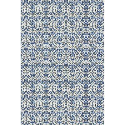 Grady Blue/Ivory Area Rug Rug Size: 2 x 3