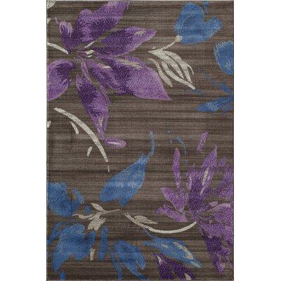 Pembroke Brown/Purple Area Rug Rug Size: 53 x 710