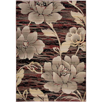 Culver Red Area Rug Rug Size: 67 x 96