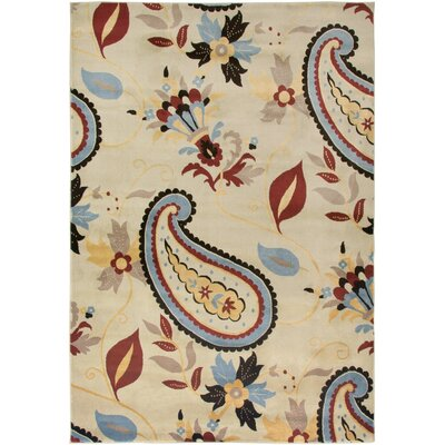 Culver Ivory Area Rug Rug Size: Rectangle 93 x 126