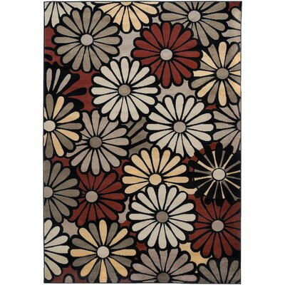 Culver Black Area Rug Rug Size: Rectangle 93 x 126