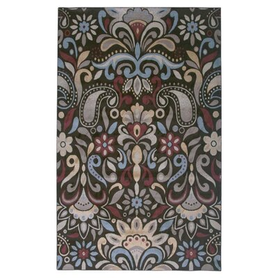 Culver Brown Floral Area Rug Rug Size: 93 x 126