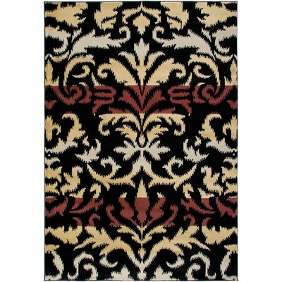 Culver Black Area Rug Rug Size: Rectangle 67 x 96