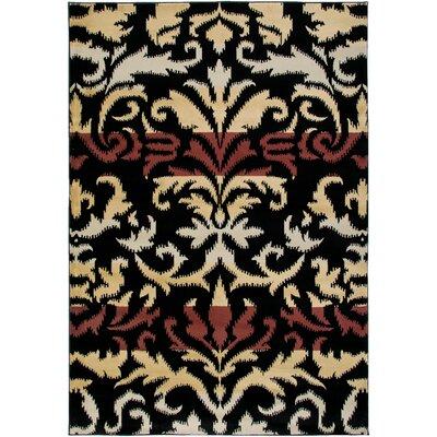 Culver Black Area Rug Rug Size: 92 x 126