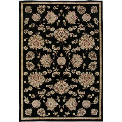 Culver Black Area Rug Rug Size: Rectangle 53 x 77