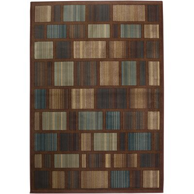 Emmett Hand-Woven Brown/Blue Area Rug Rug Size: Rectangle 910 x 1210