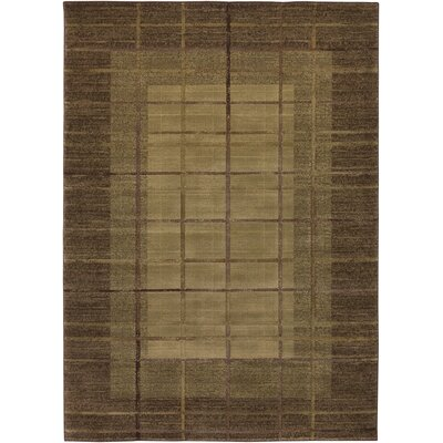 Julius Hand-Woven Beige/Brown Area Rug Rug Size: Rectangle 57 x 4