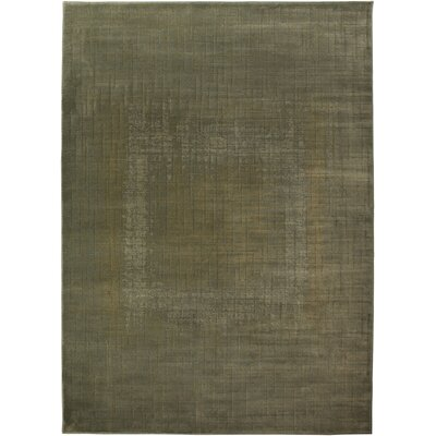 Vaughn Hand-Woven Green Area Rug Rug Size: Rectangle 4 x 57