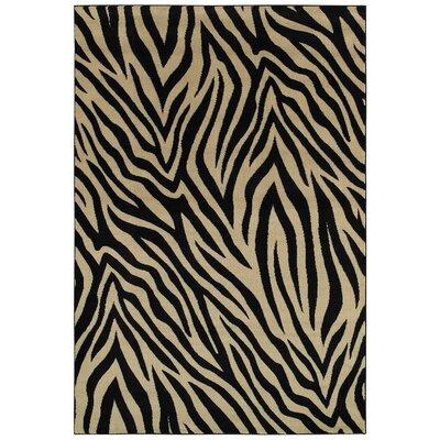 Evangeline Black Area Rug Rug Size: 92 x 126